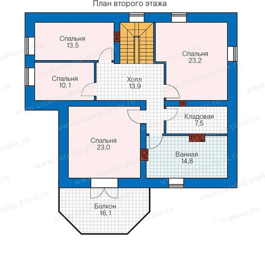 Проект коттеджа проект кирпичного дома с мансардой pd-002-2k.
